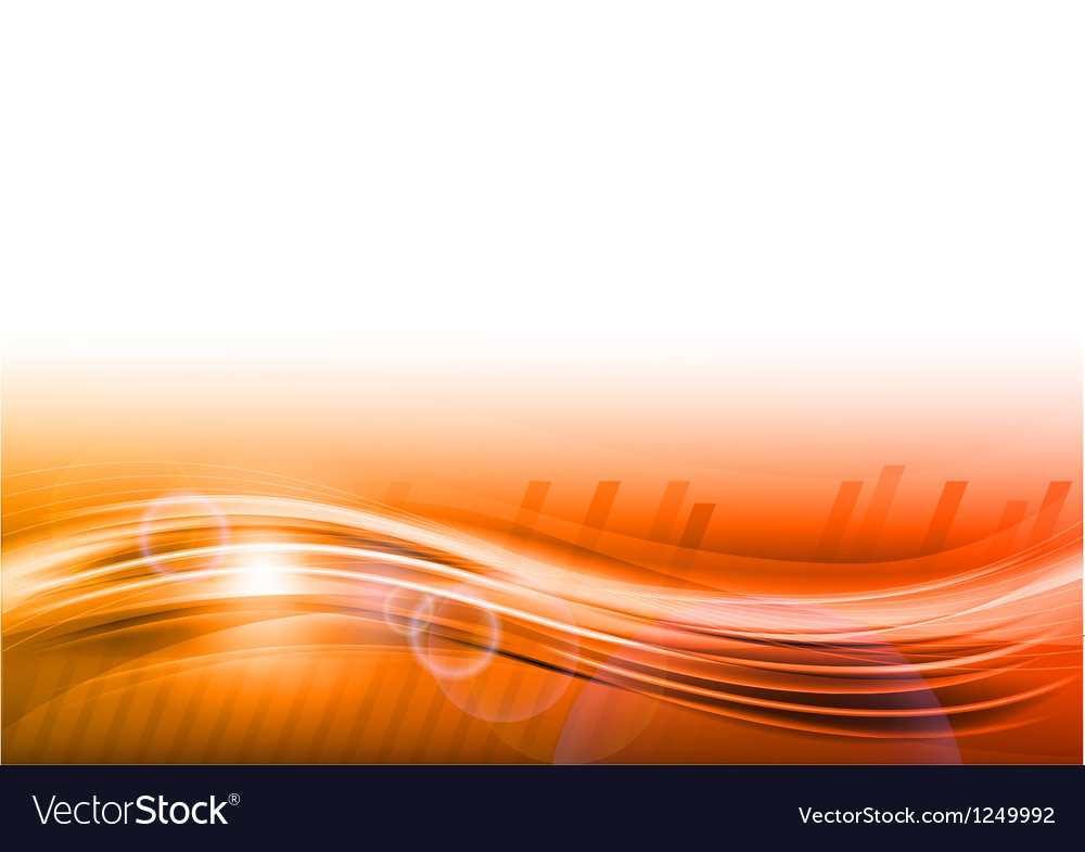 Wave abstract orange vector