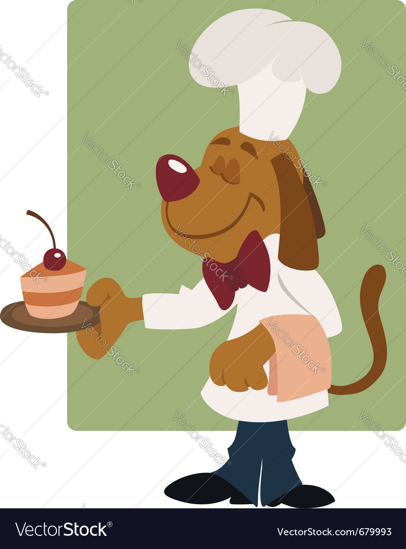 Elegant dog waiter vector