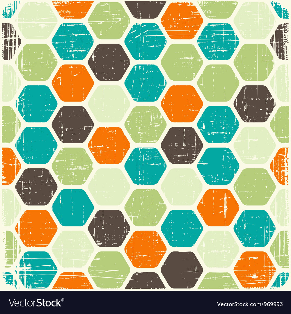 Retro seamless geometric pattern vector