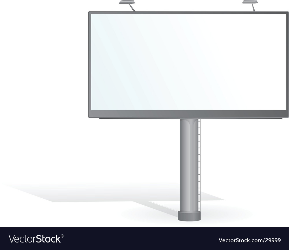 Advertising billboard vector