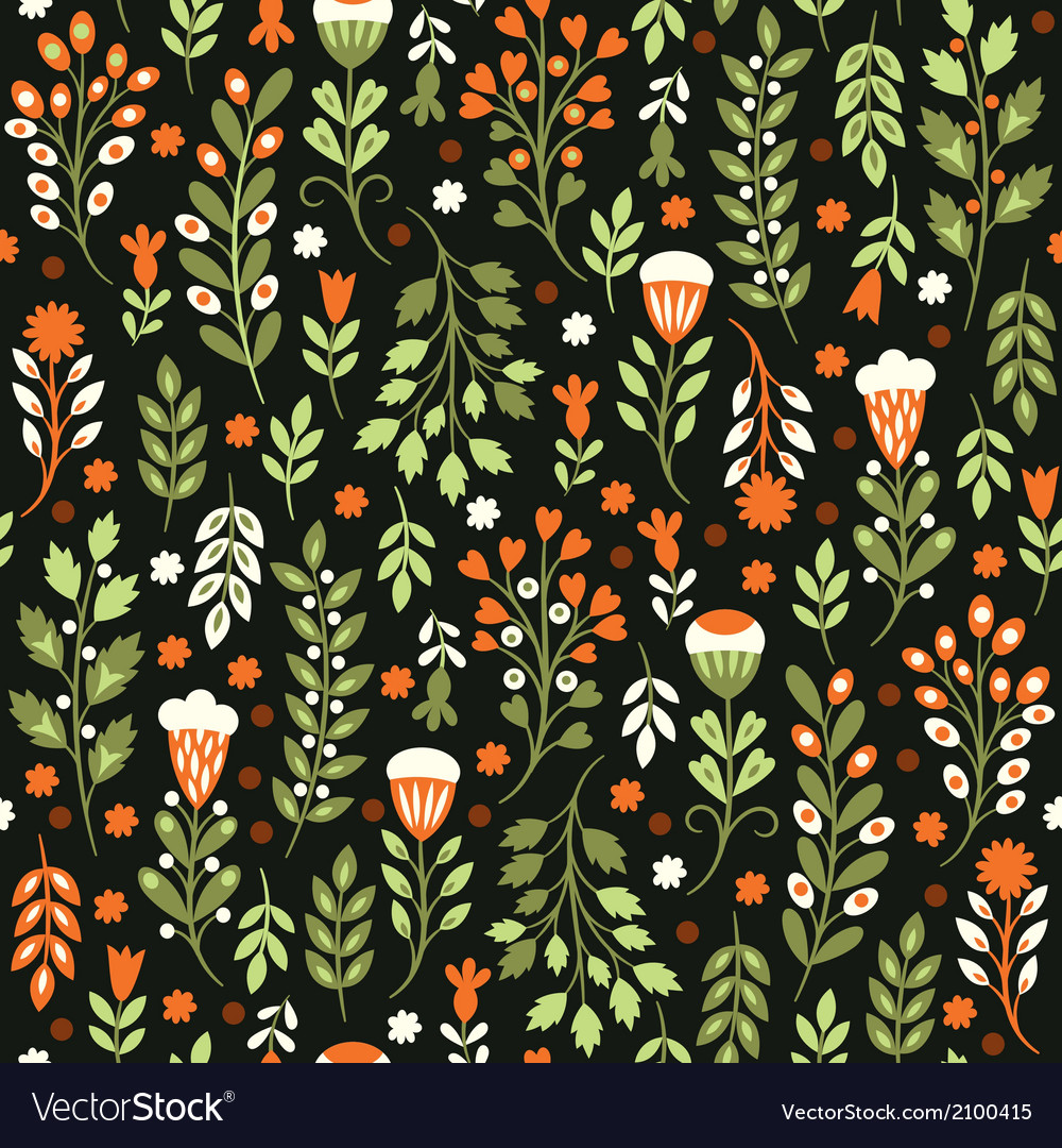 Seamless-floral-pattern-vector