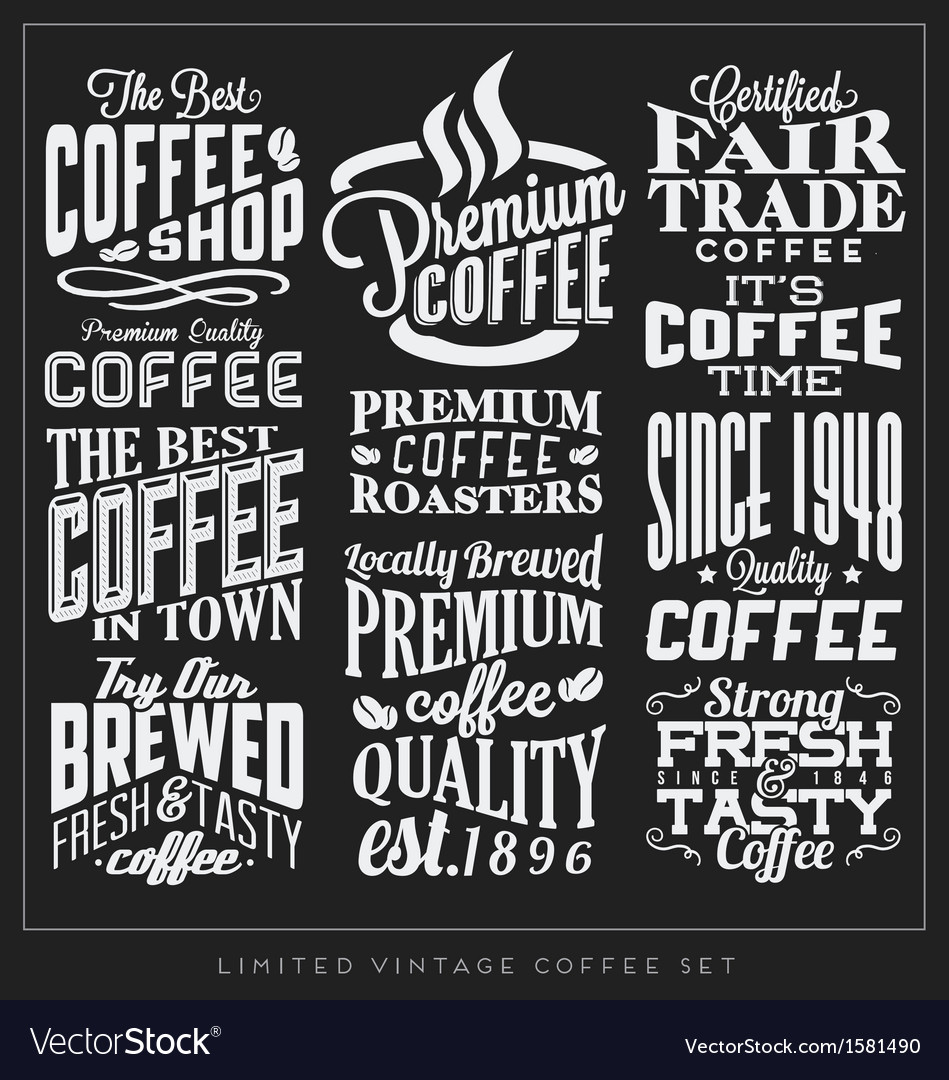 Set-of-retro-vintage-coffee-labels-vector