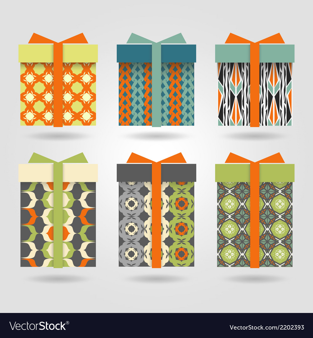 Set-of-colorful-gift-boxes-vector