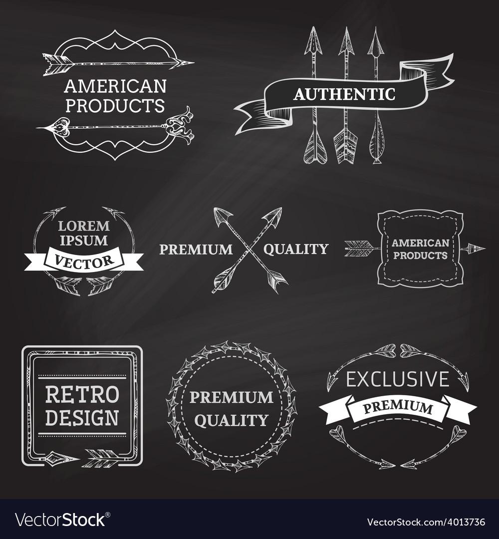 Set-of-chalk-arrows-design-elements-on-blackboard-vector