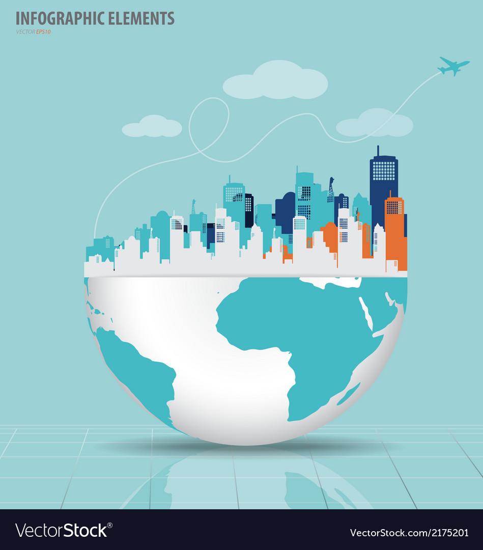 City-with-modern-design-globe-vector