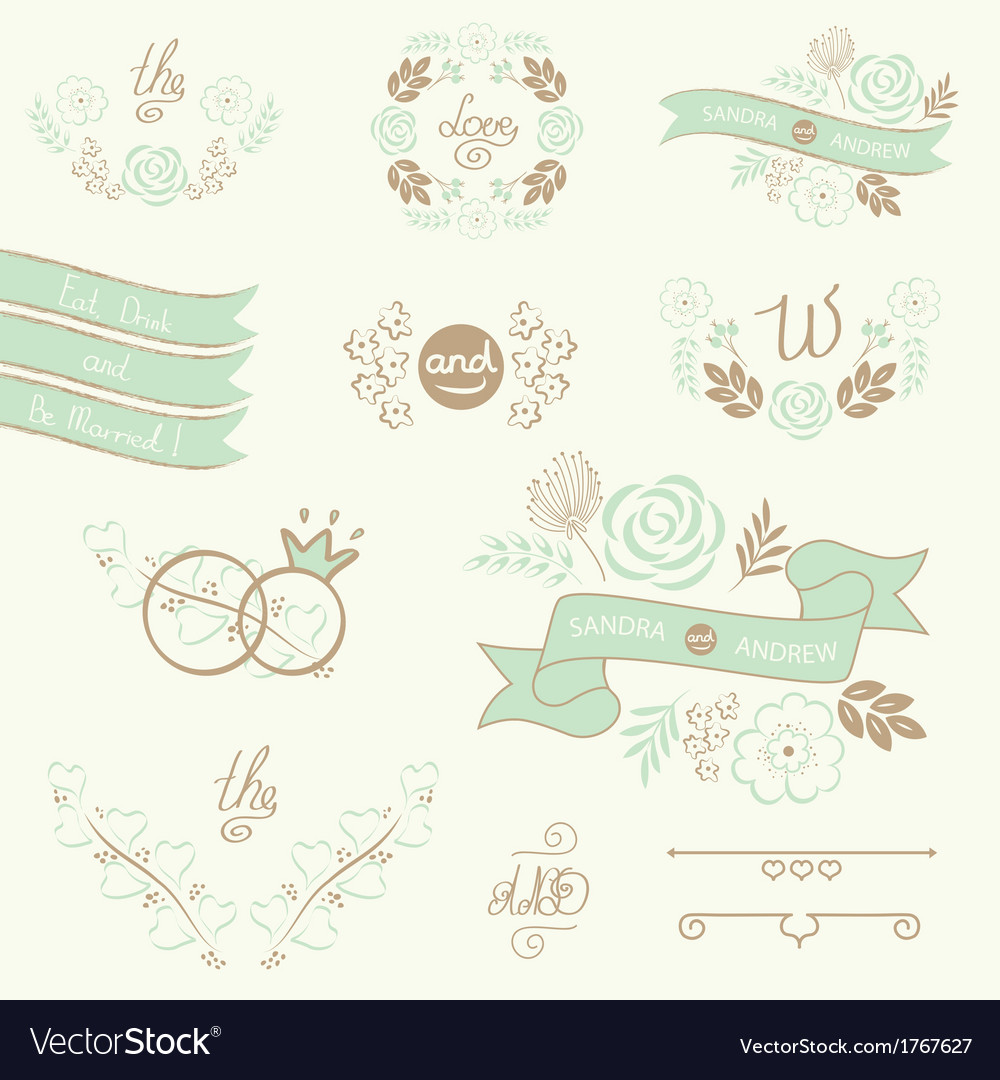 Wedding-elements-vector