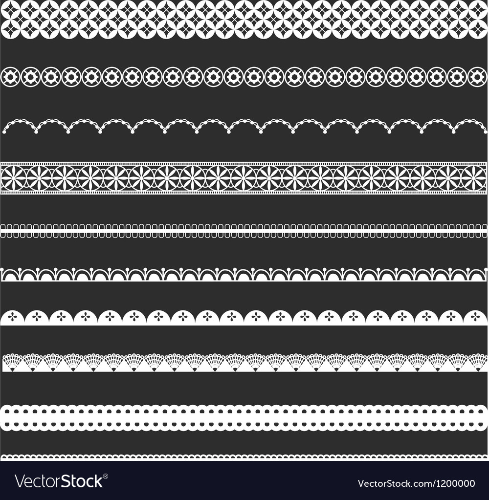 Decorative lace borders vector