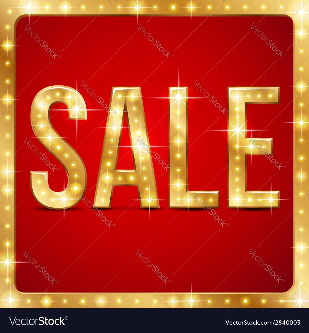 Flash sale frame vector