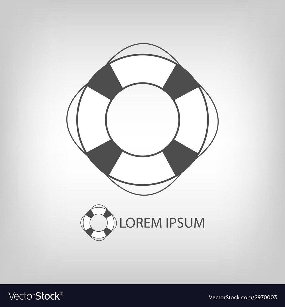 Grey safety ring vector