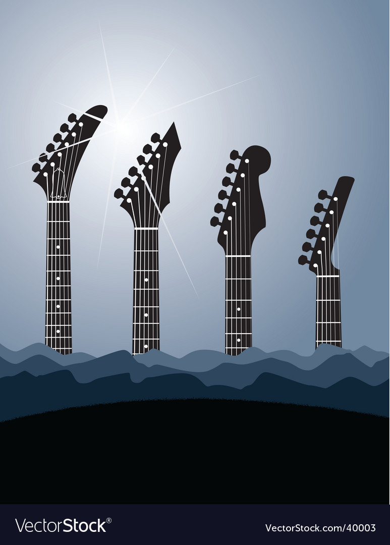 Guitar stock background vector