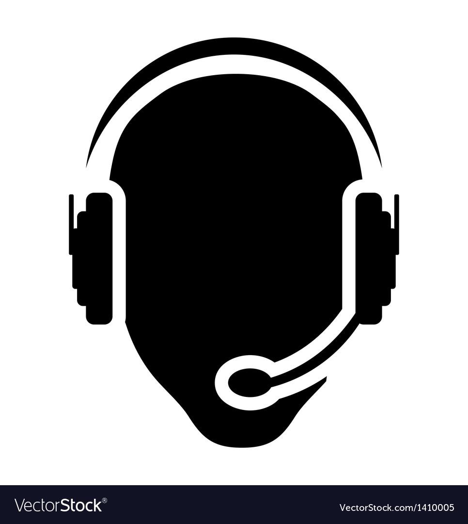 Call center man icon vector