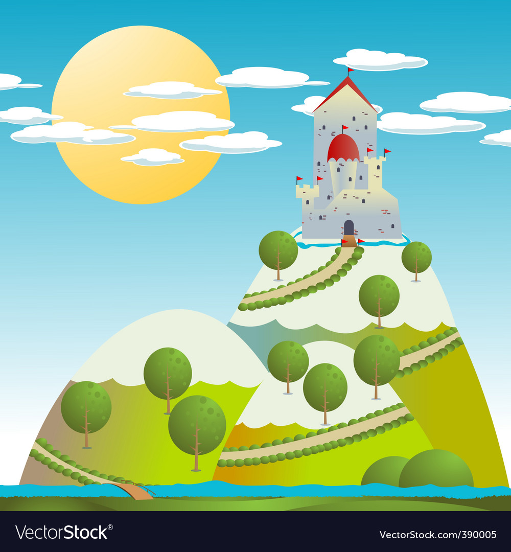 Castle drawing vector