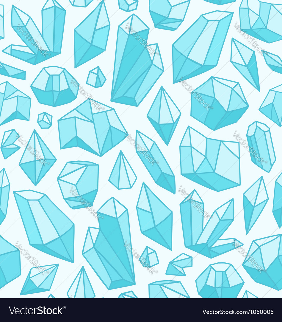 Crystals pattern vector