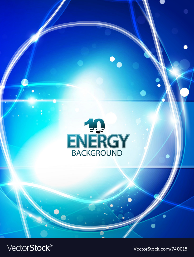 Blue energy background vector