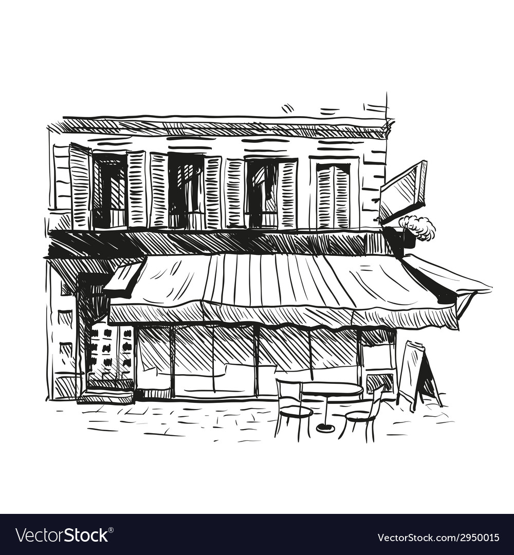 Cafe drawing vector