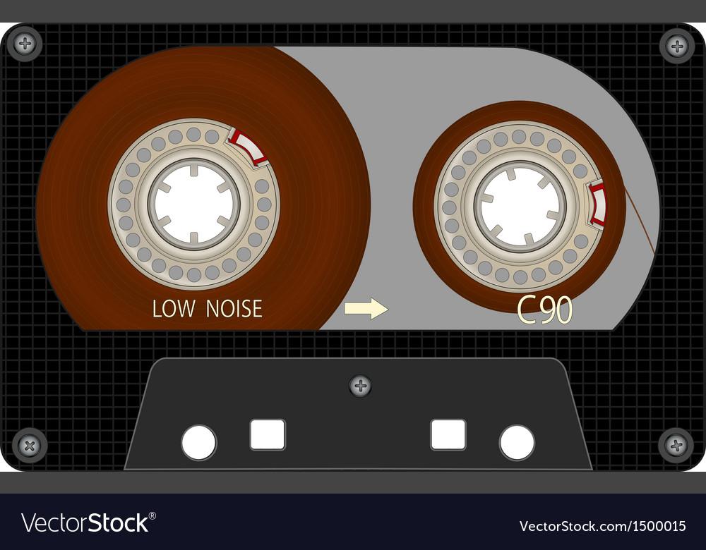 It is black brown audio the cartridge vector