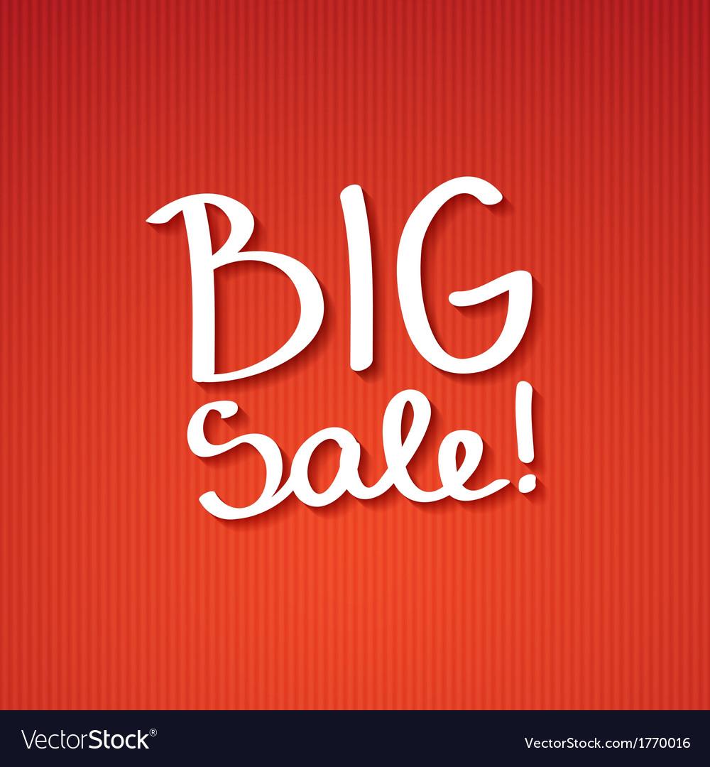 Big sale vector