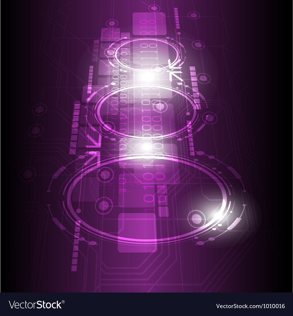 Digital future technology background vector