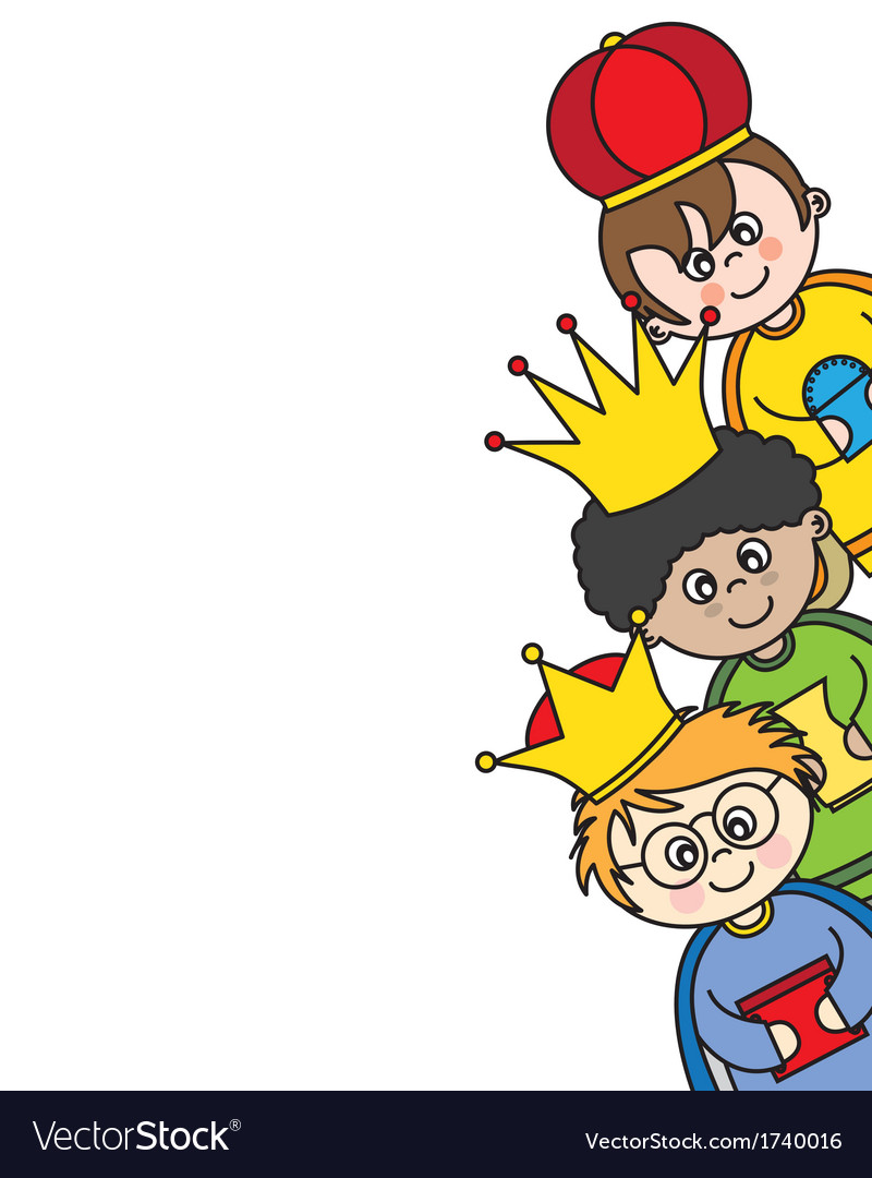 Three kings card vector