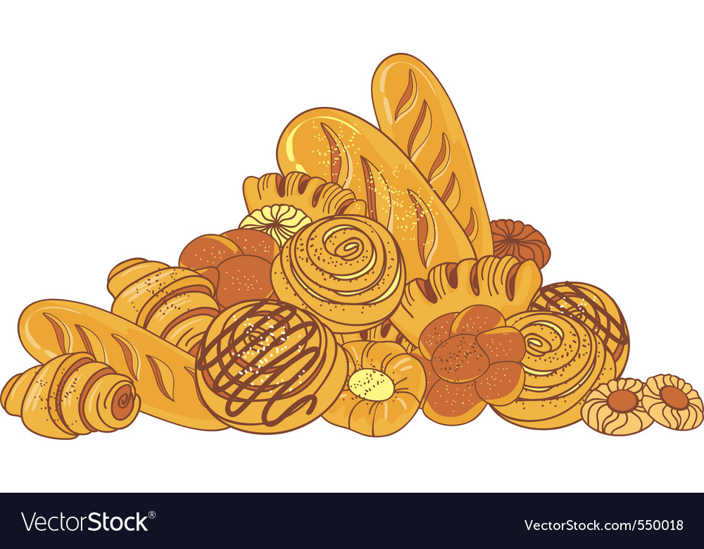 Bread and bakeries vector