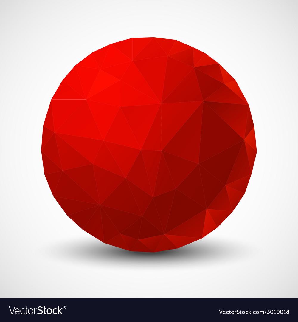 Red geometric ball vector