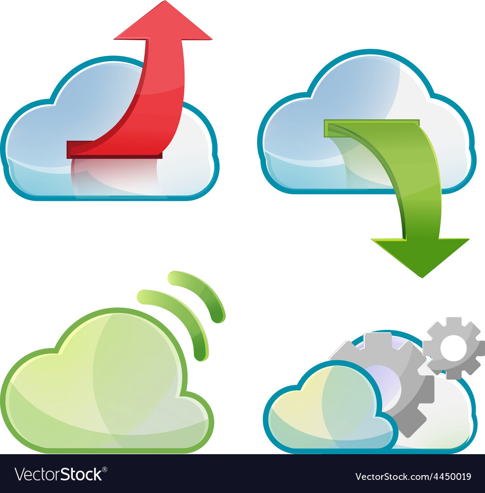 Cloud icon symbol design set vector