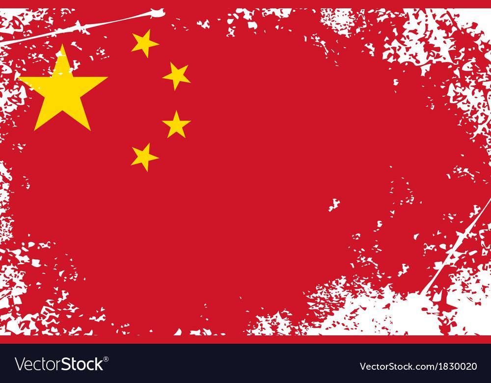 China grunge flag vector