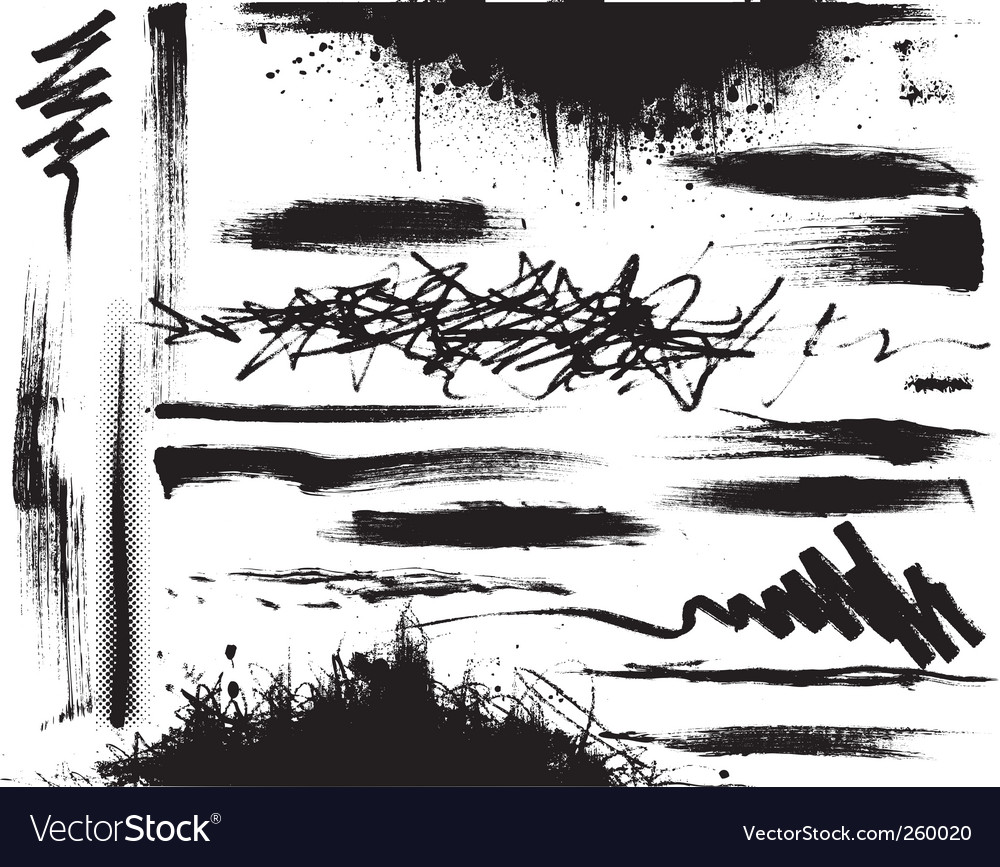 Grunge strokes vector