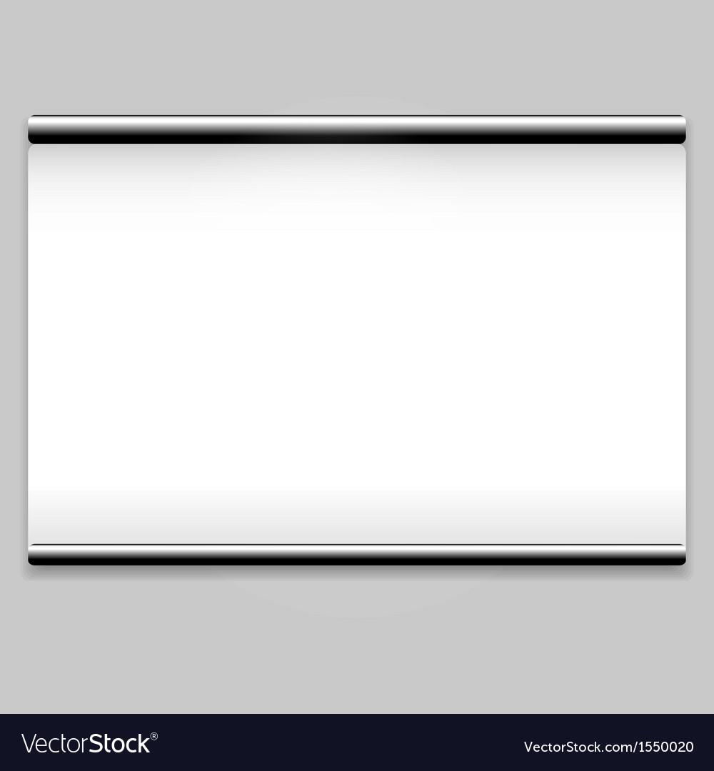 Projector screen sign vector