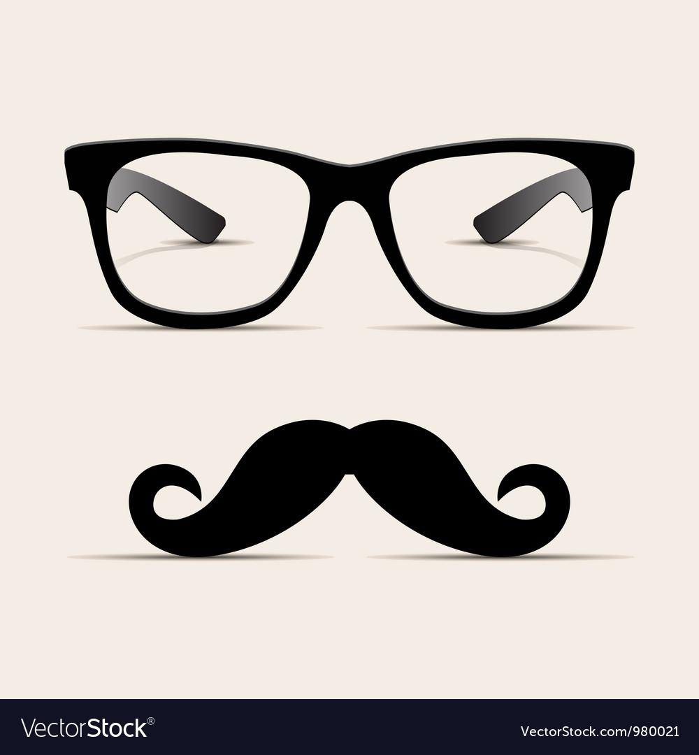 Hipster glasses hipsta man vector