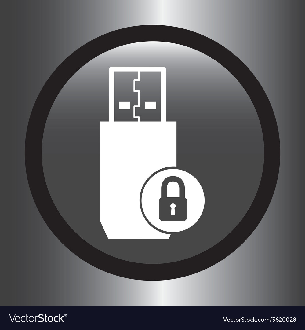 Usb icon vector