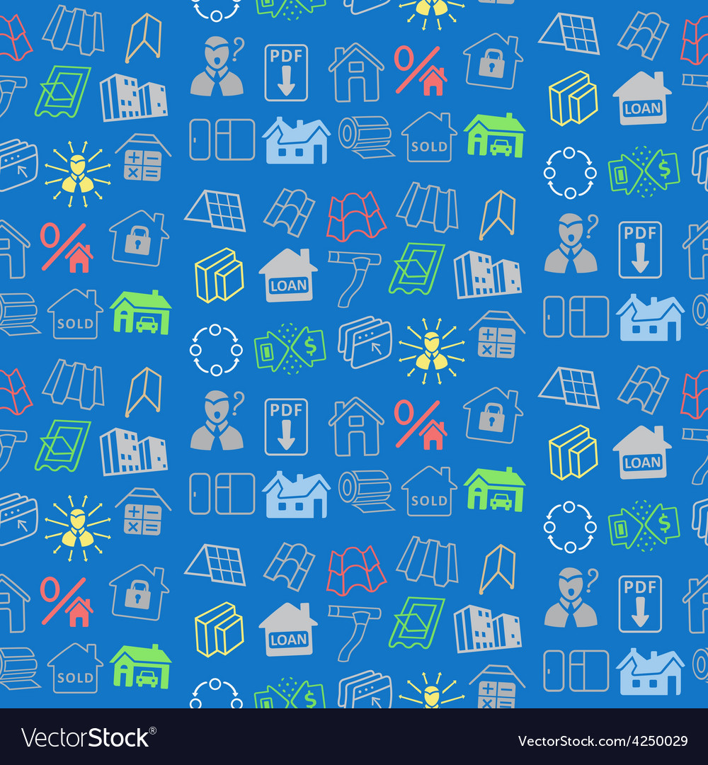 Sale buildings materials seamless background vector