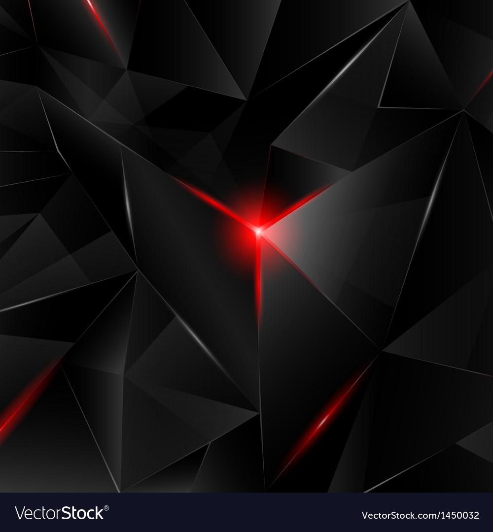 Black crystal vector