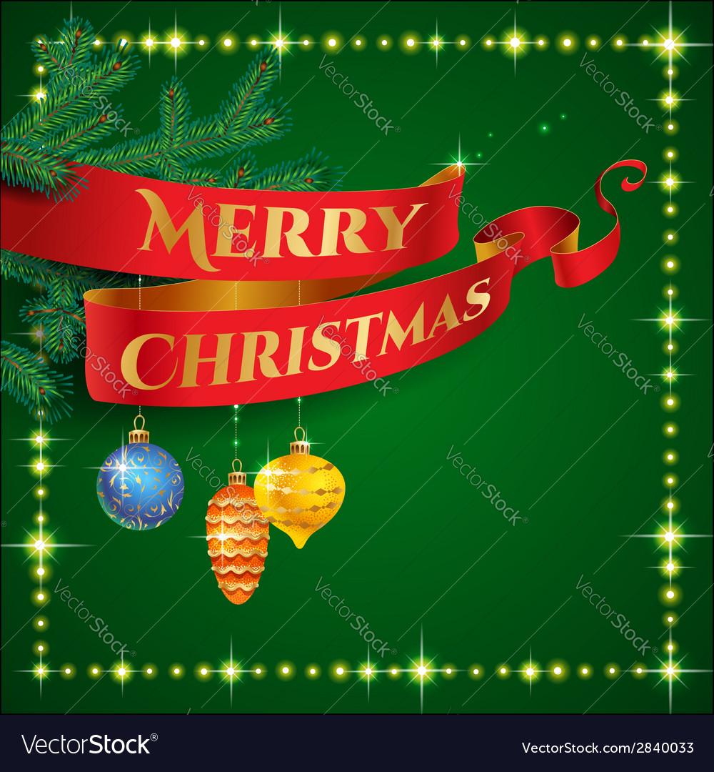 Ribbon christmas vector