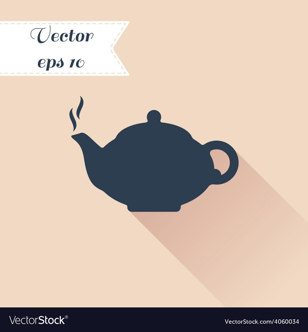 Teapot silhouette icon vector