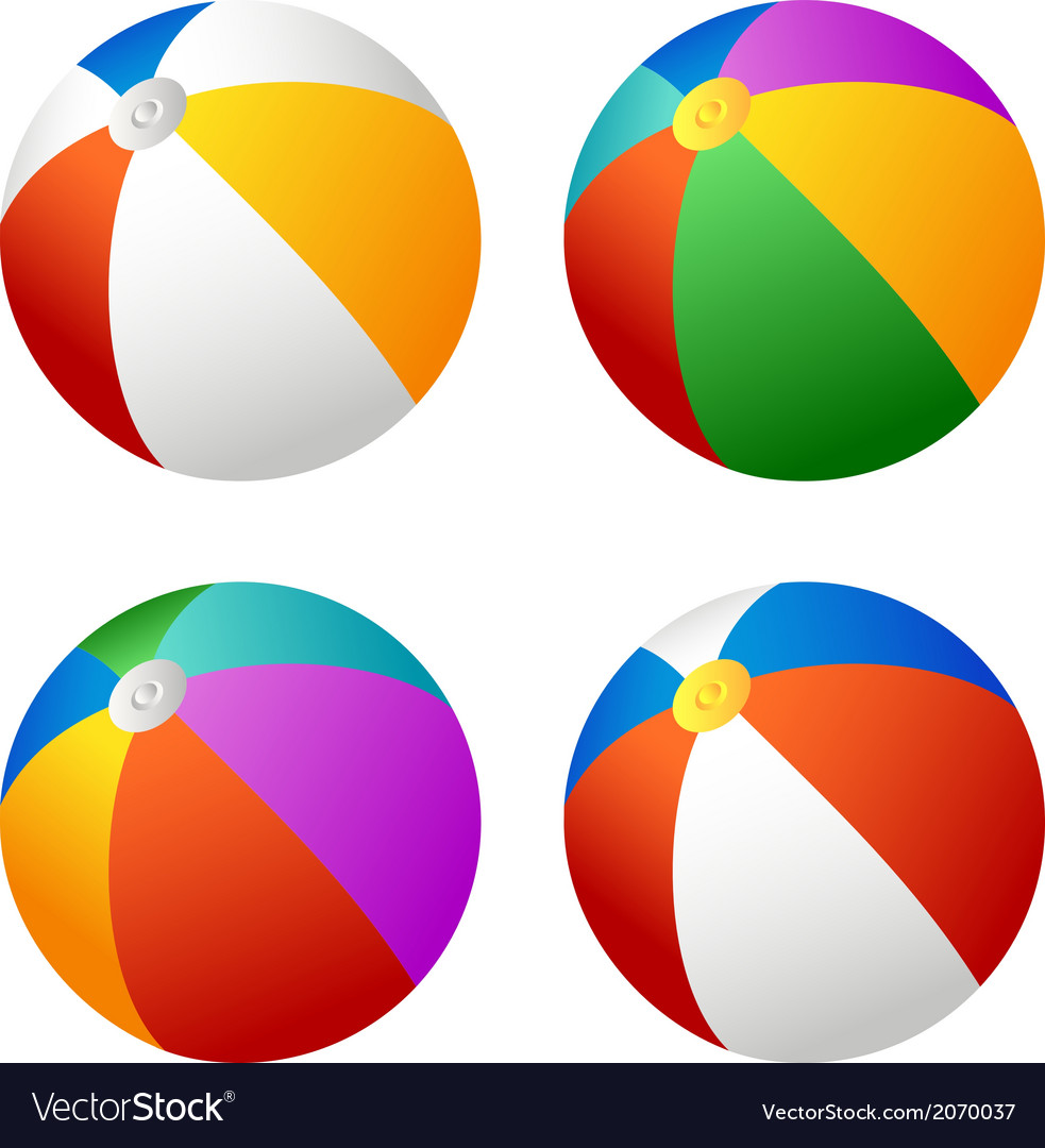 Beach ball set vector