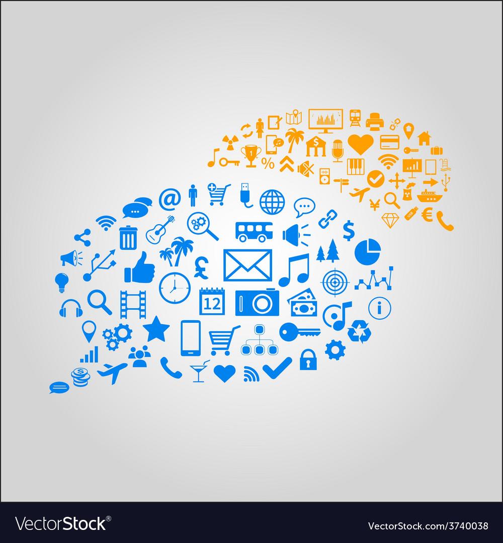 Communication concept - media vector