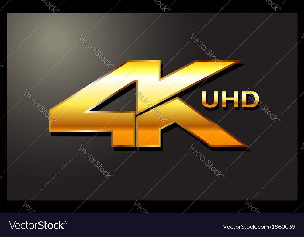 4k sign label emblem vector