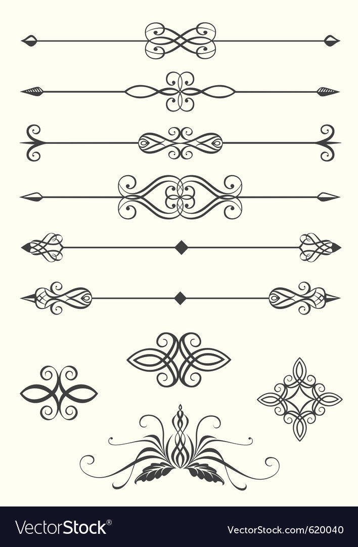Line dividers vector