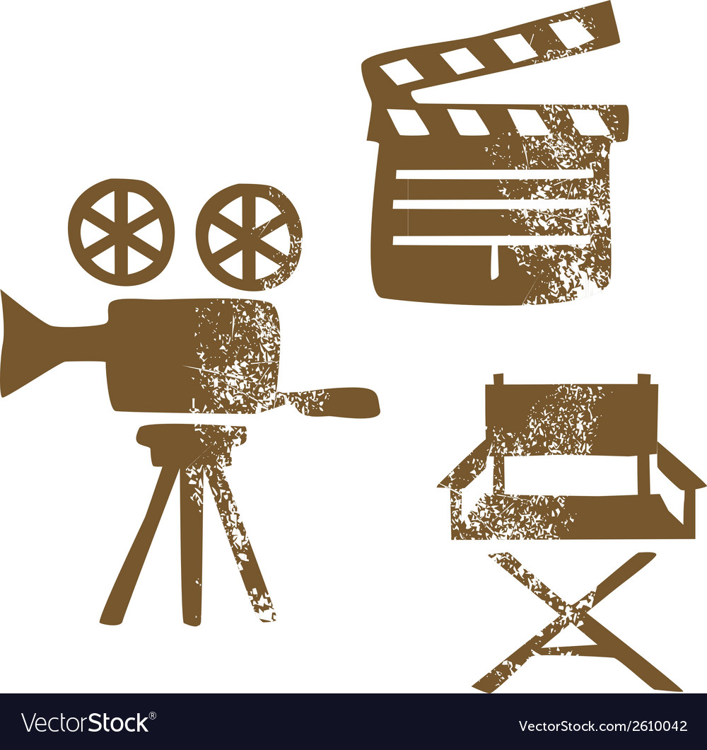 Film design elements vector