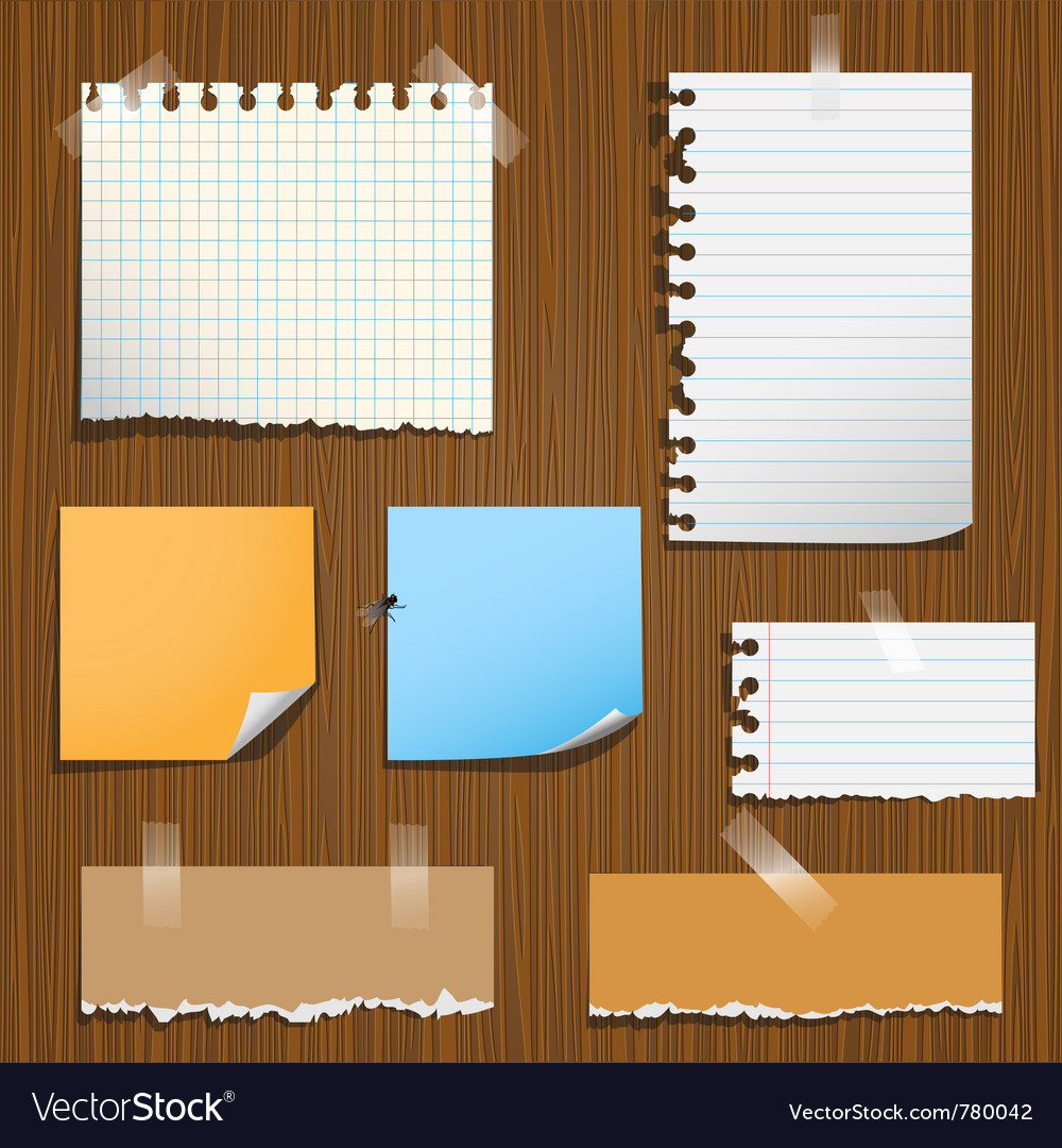 Notes paper vector