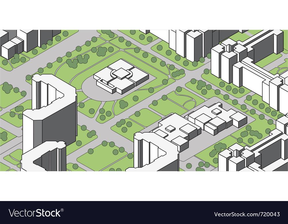 Housing estate vector