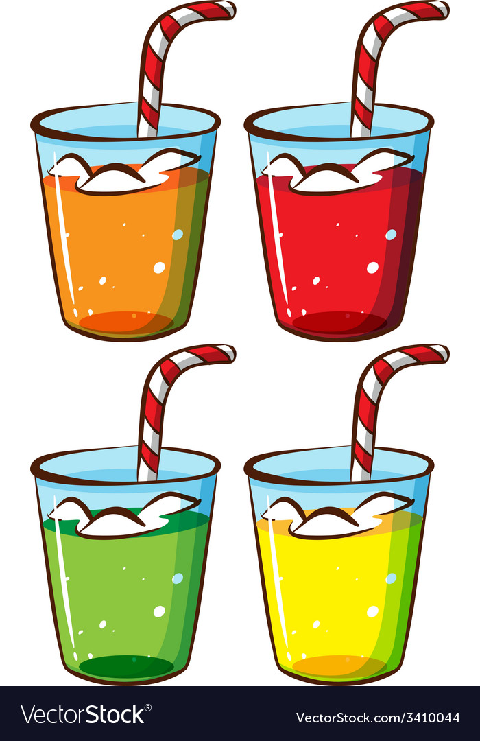 Glasses with juice vector
