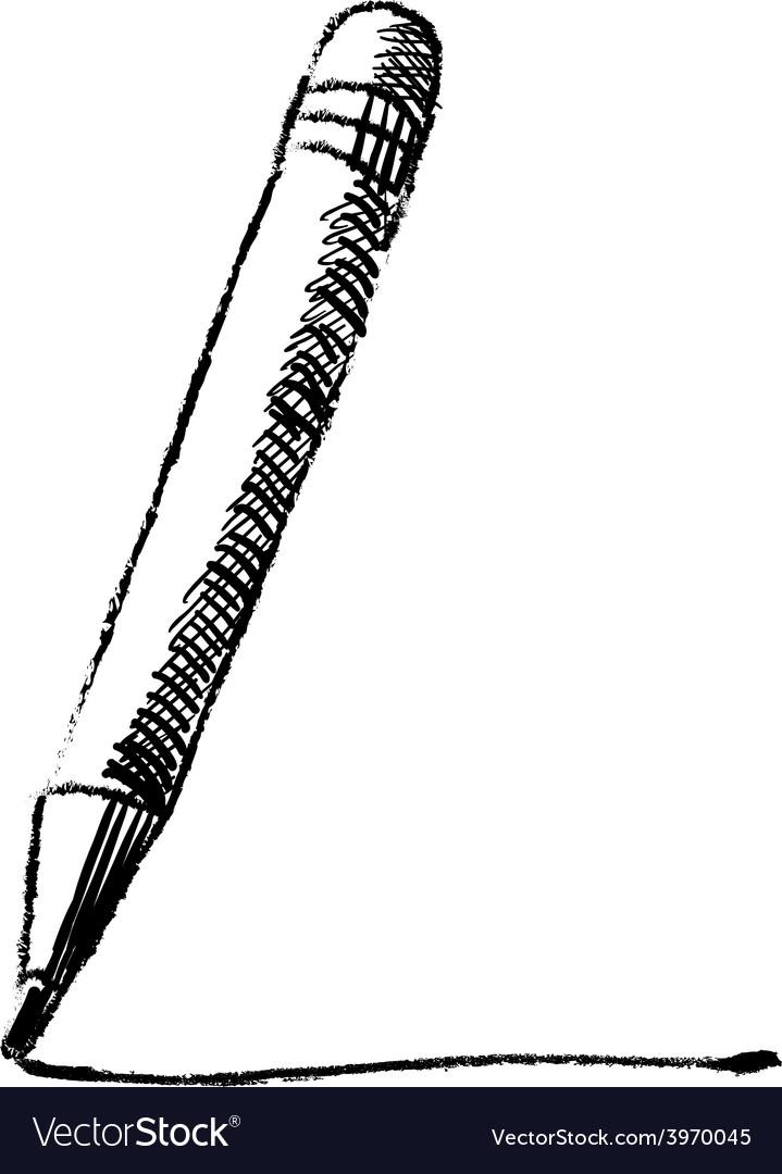 Pencil sketch cartoon vector