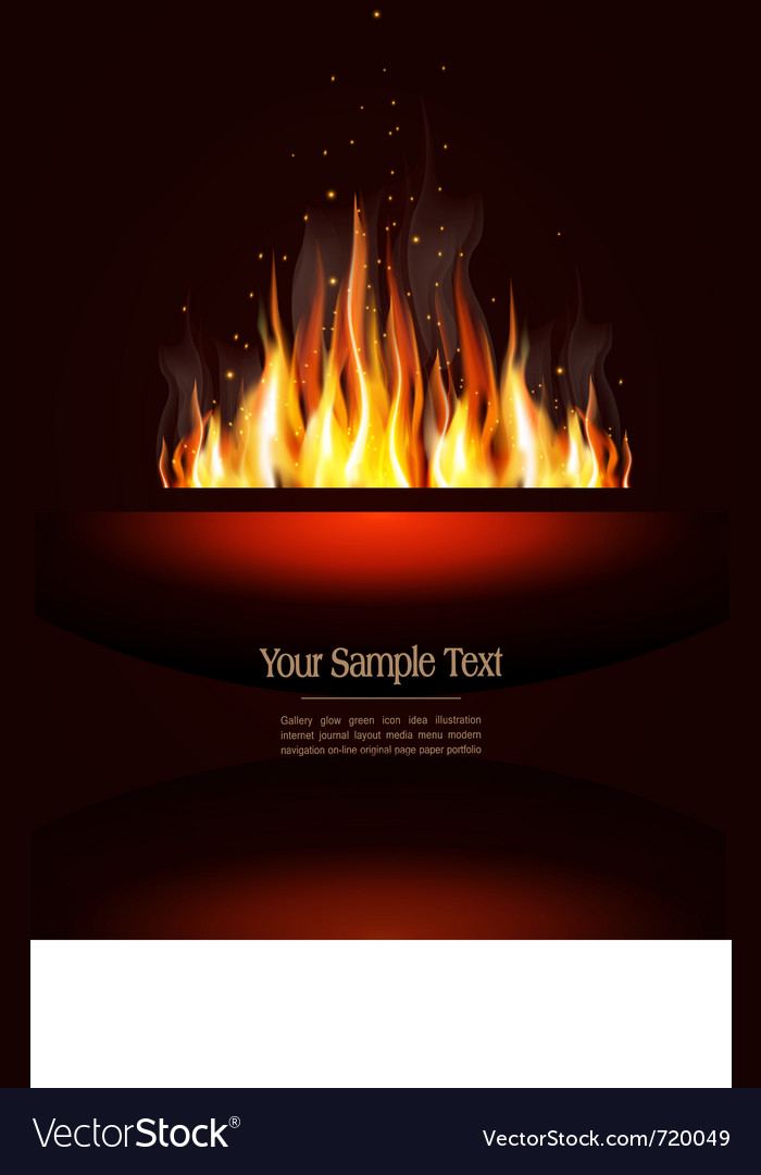 Fire poster vector