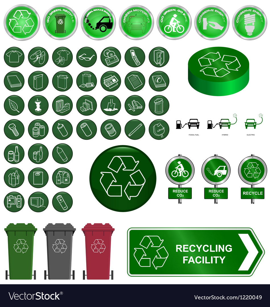 Recycling and environment vector