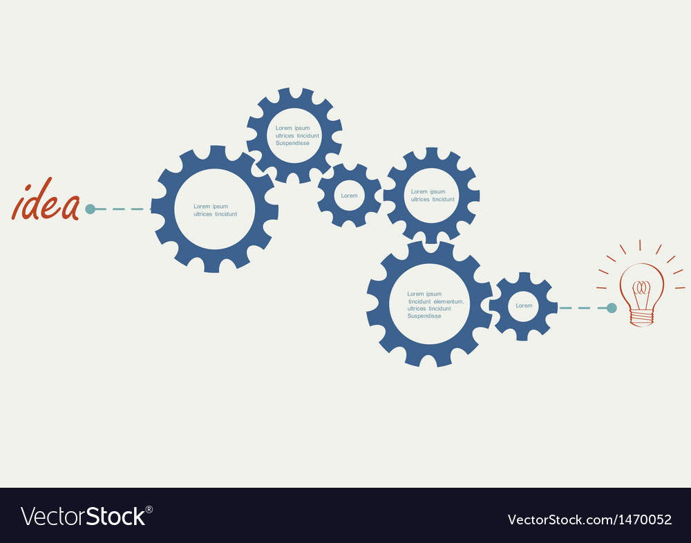 Concept with abstract gear wheels vector