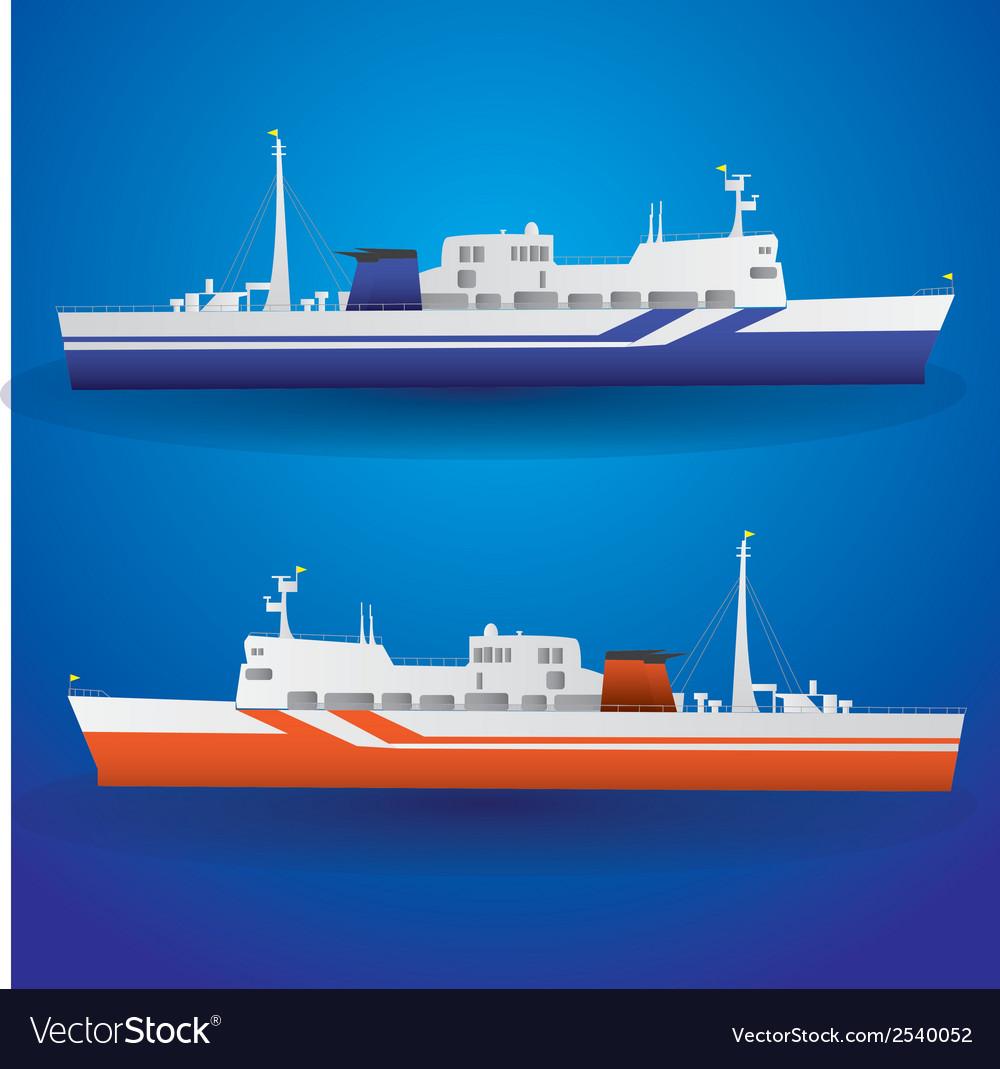 Ferry ship eps10 vector