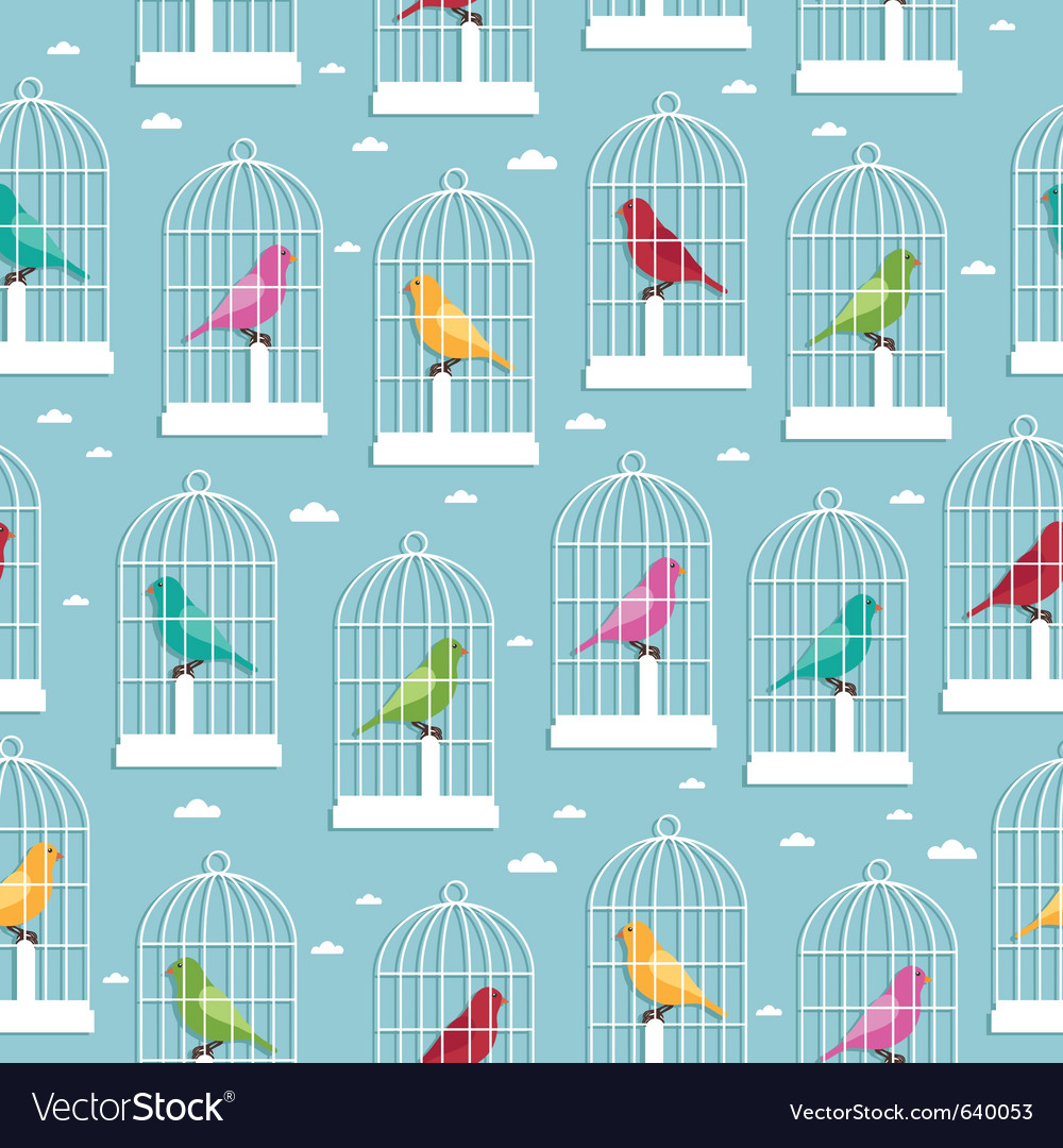 Birdcage pattern vector