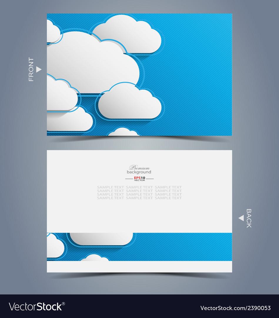 Elegant business card design template vector